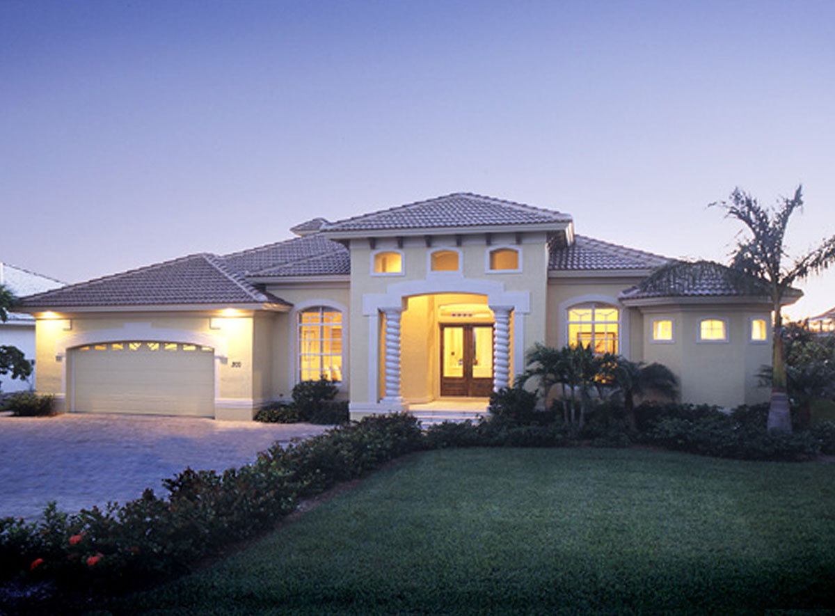 Florida living 24001bg architectural designs house plans for Florida home designs