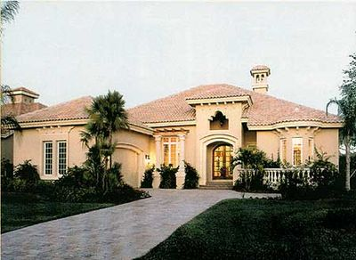 Florida home plan with courtyard and lanais 24003bg for Florida house plans with lanai