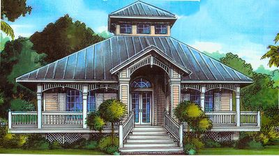 Florida cracker style 24046bg architectural designs for Cracker style home plans