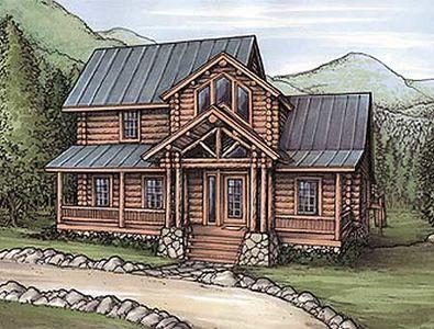 Log Siding Vacation Home Plan 24086bg Architectural