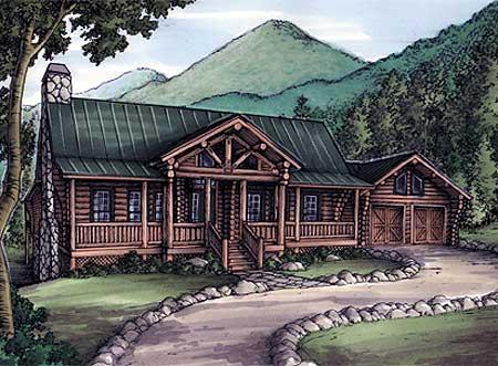 Mountain Living With Log Siding 24087bg 1st Floor