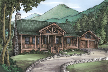 Mountain Living With Log Siding 24087bg 1st Floor