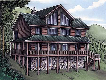 Rustic House Plan With Log Siding 24094bg 2nd Floor