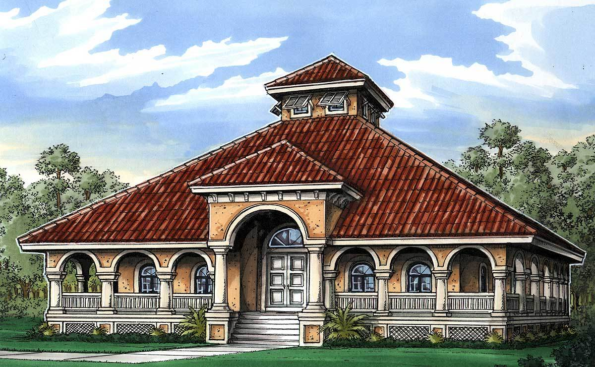 Florida cracker house plan 24096bg architectural for Florida cottage plans