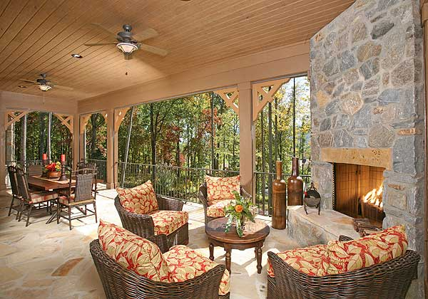 Luxurious mountain home plan 24107bg 1st floor master for Cost to build a lanai