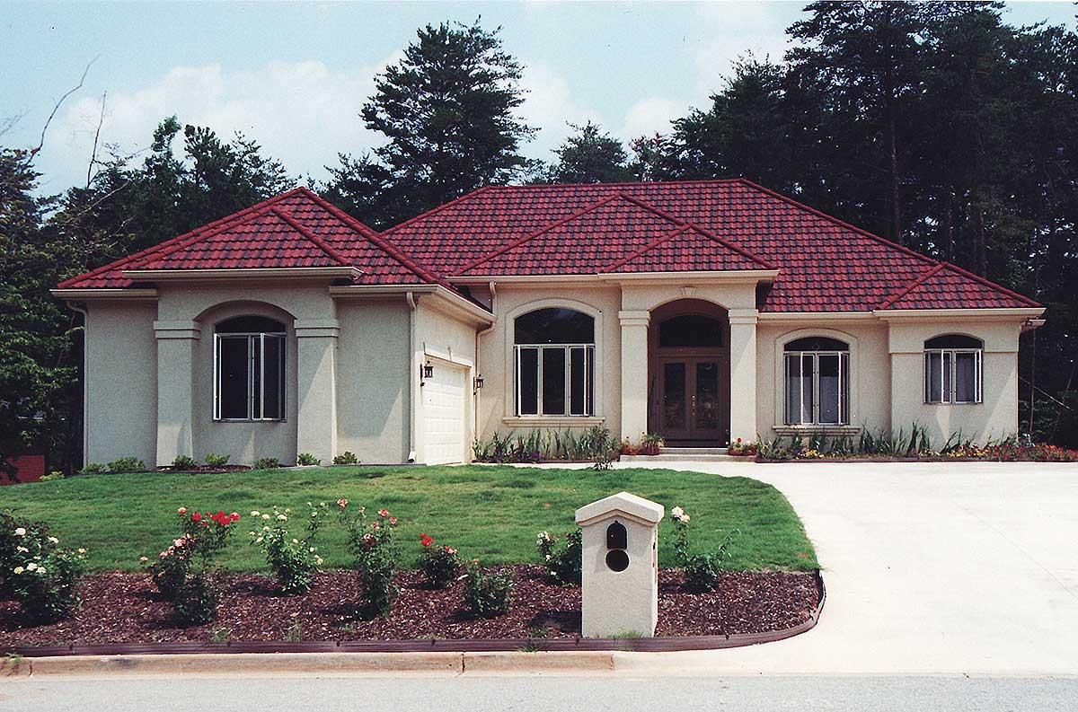 Stylish mediterranean house plan 24320tw architectural for 2000 square feet house