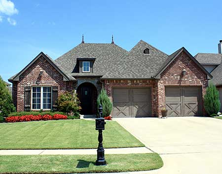 Tidy one story living 24604gk 1st floor master suite for One story french country house plans