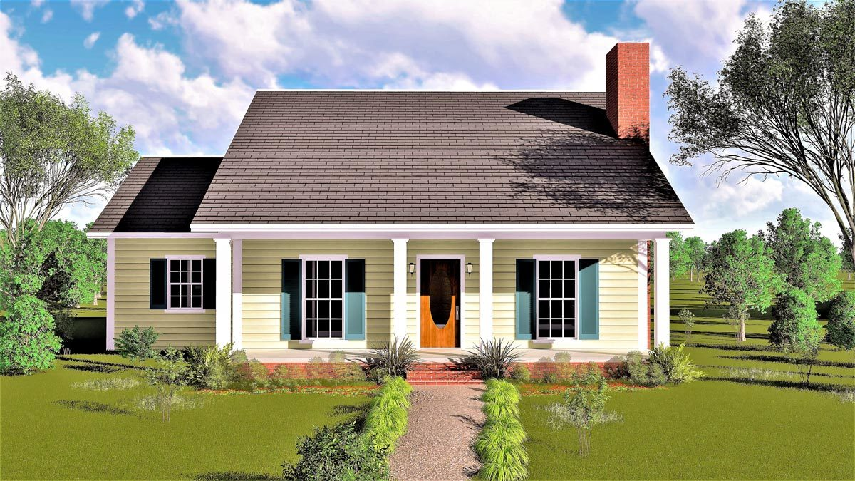 Southern country retreat 2538dh architectural designs for Retreat house plans