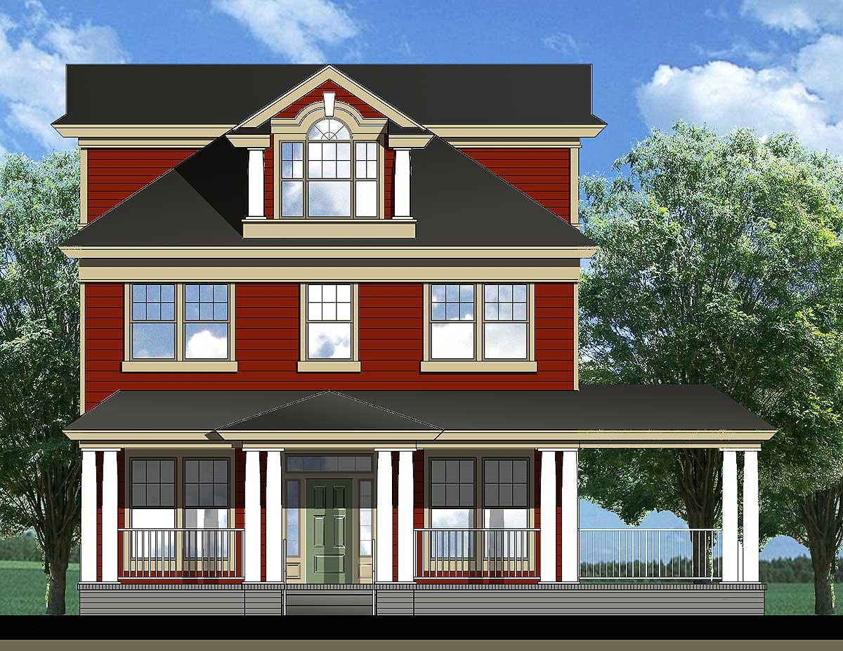 Charming triple decker 25404tf architectural designs for Architectural designs com