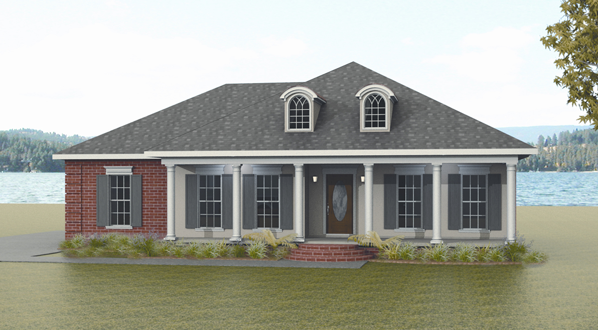 Classic southern style 2553dh architectural designs for Classic southern house plans