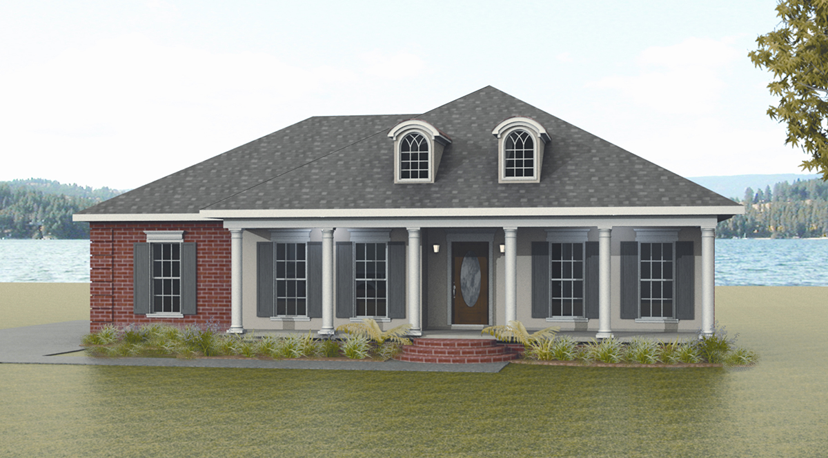 Classic Southern Style 2553dh 1st Floor Master Suite