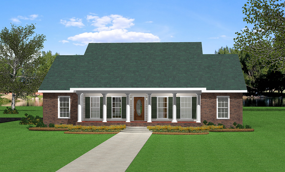 Southern belle 2555dh architectural designs house plans for Southern designer house plans