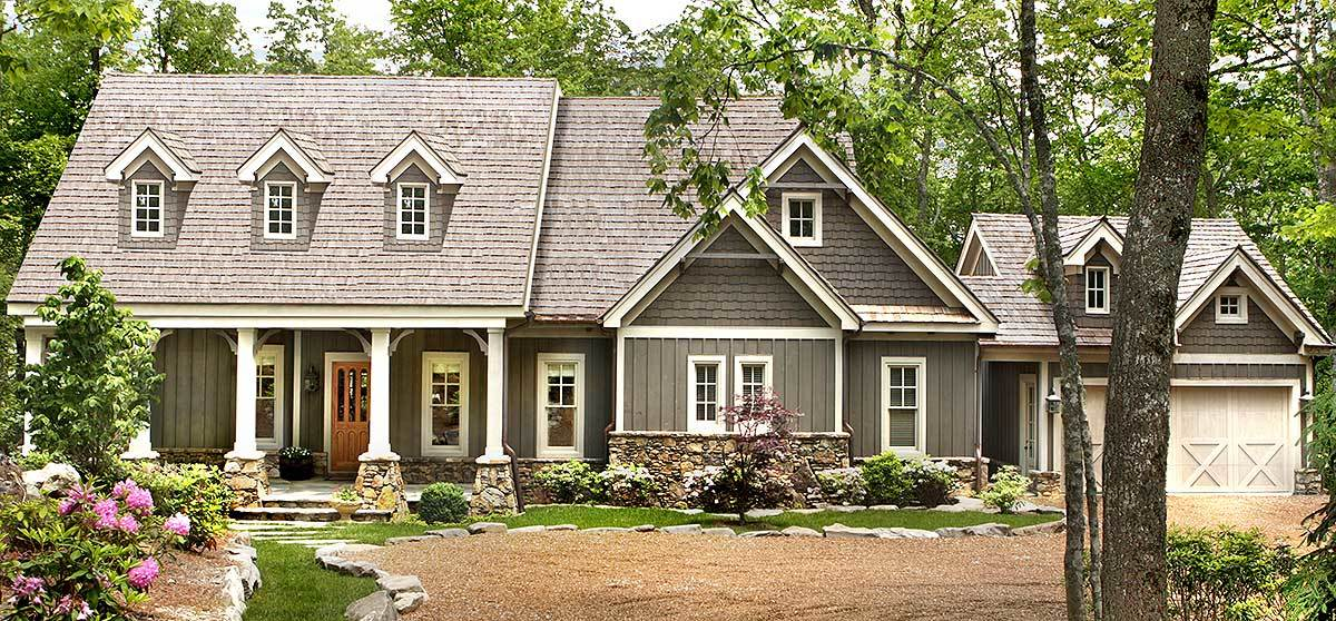 Country cottage with dual master suite 25605ge 1st for Country home collections flooring