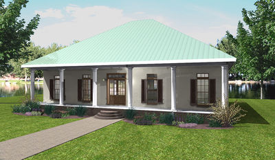 Classic southern country 2564dh architectural designs for Classic southern house plans