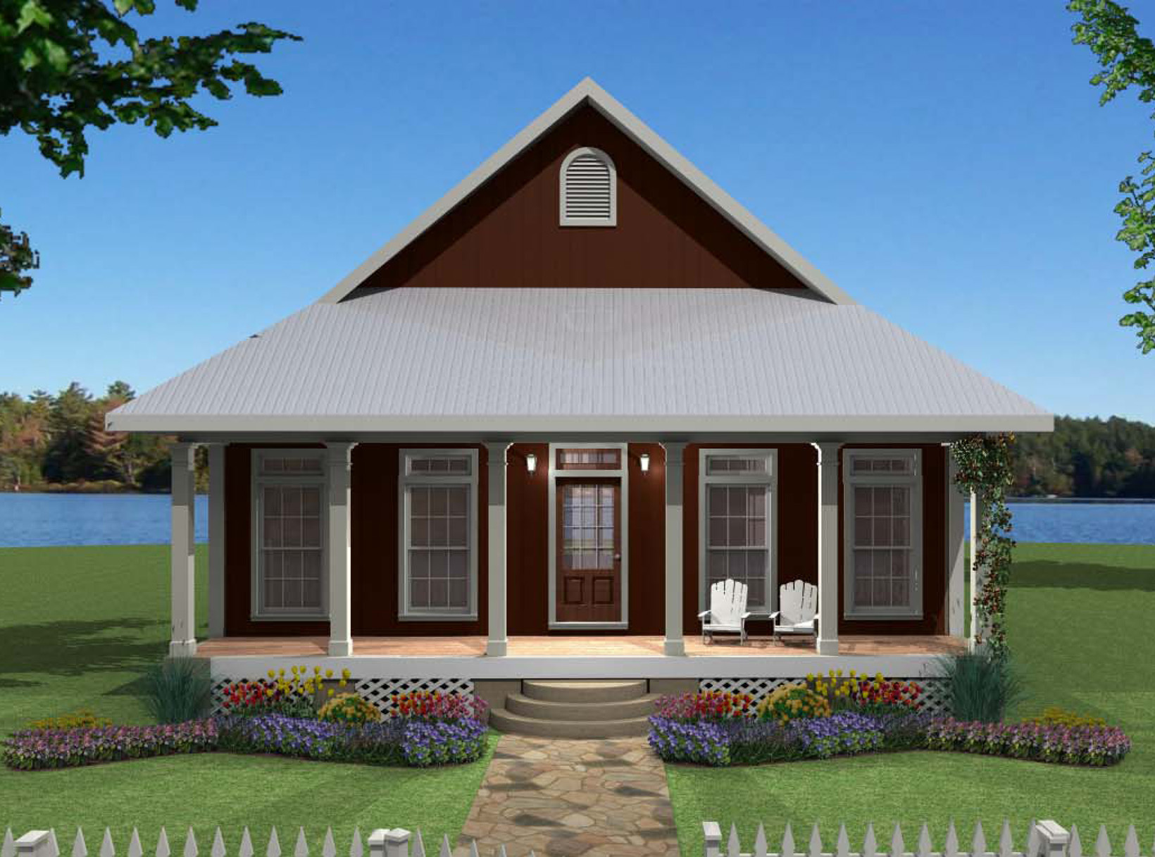 Country cutie 2569dh 1st floor master suite cottage for Country cabin designs