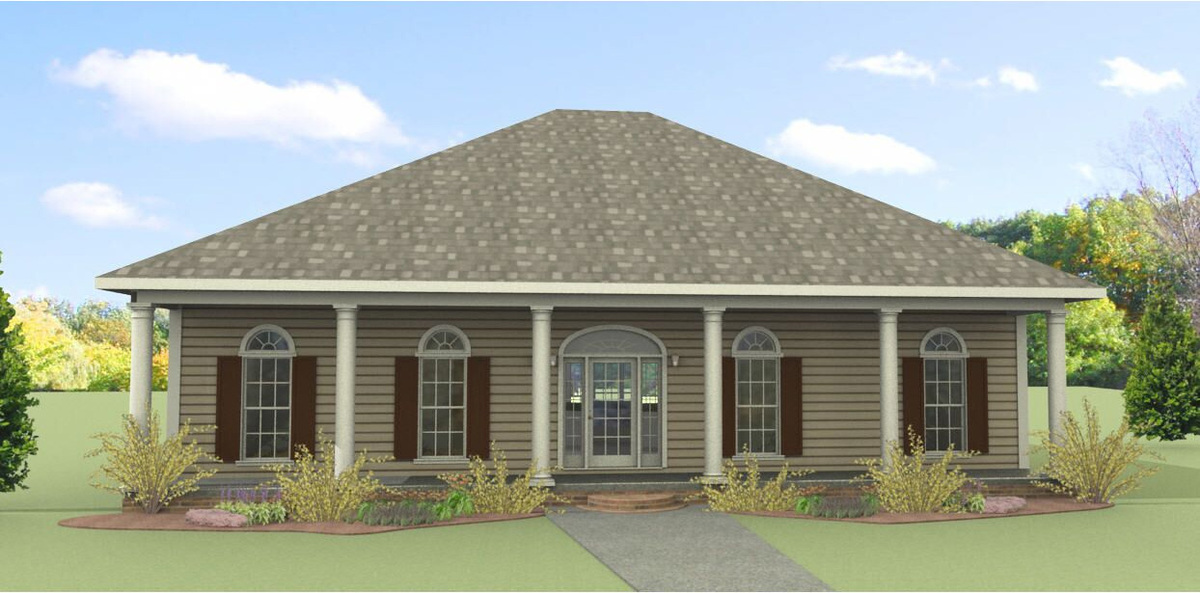 Classic southern country with three porches 2571dh for Southern country home plans