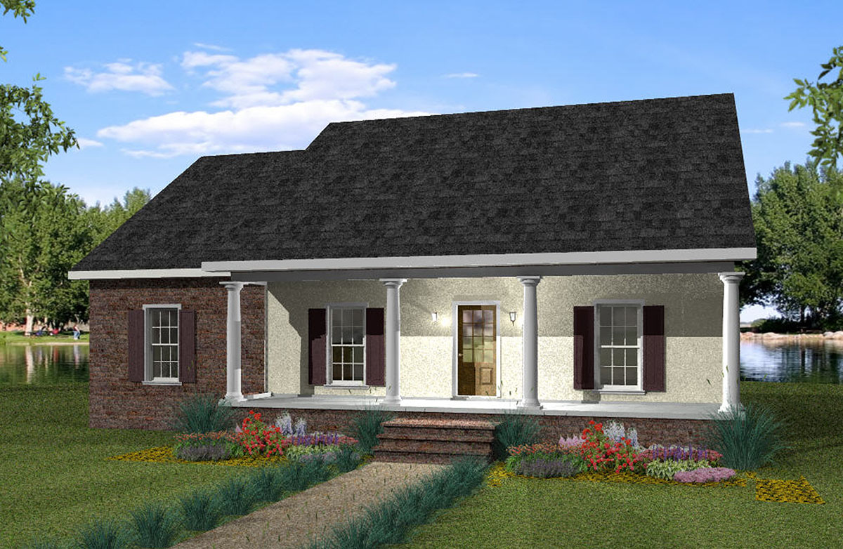 Optional attached garage included 2572dh architectural for Saltbox garage plans