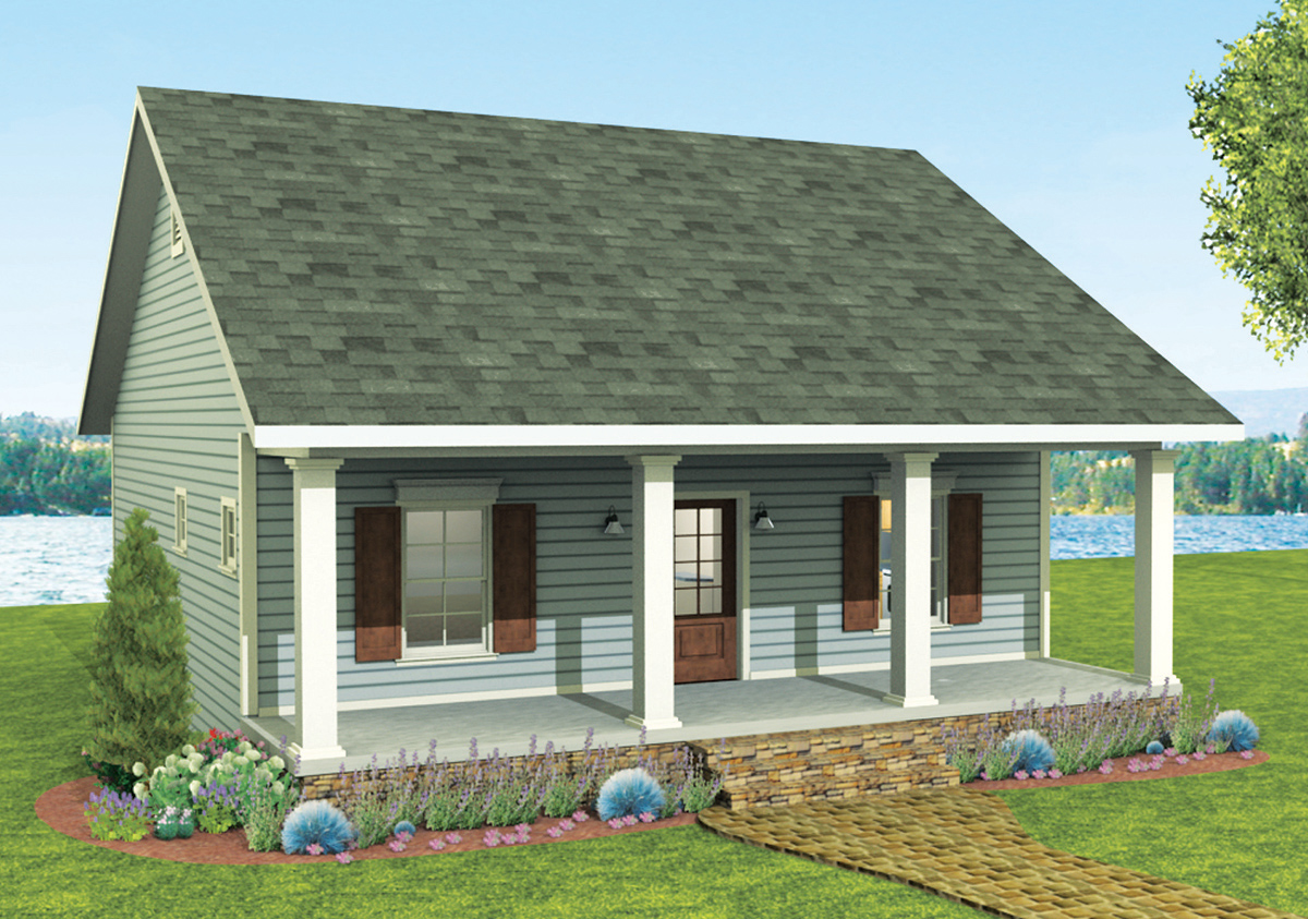 Cozy 2 bed cottage house plan 2596dh 1st floor master for Cozy home plans