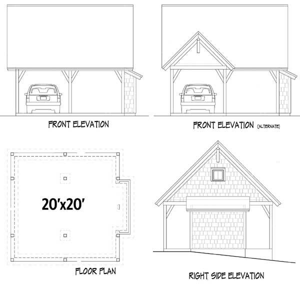 Quaint Cottage Detailing - 26610GG floor plan - Garage