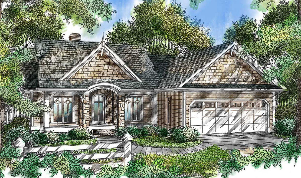 Charming cottage 26629gg architectural designs house for Charming cottage house plans