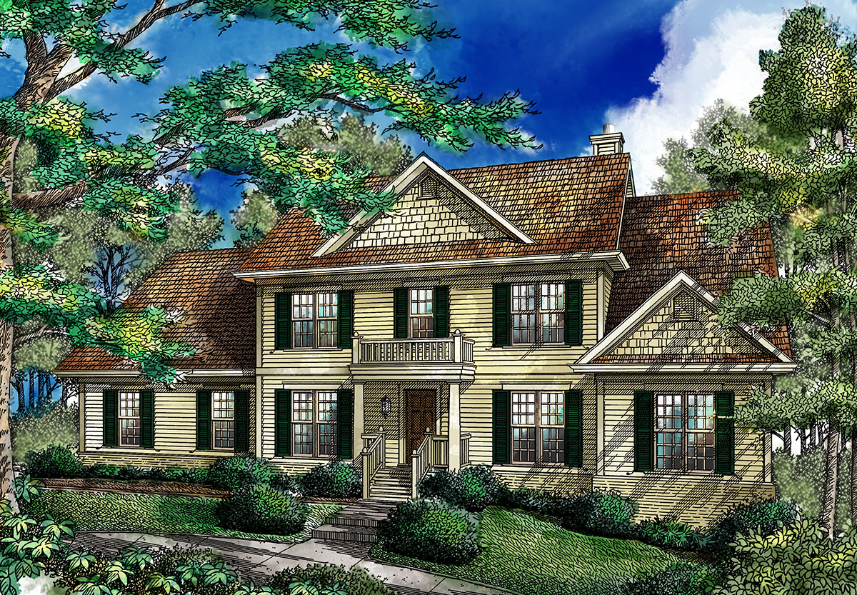 colonial house plan traditional colonial home 26642gg architectural designs house plans 6030