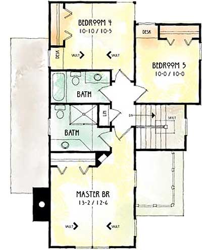 Rotateable rustic retreat 26656gg 2nd floor master for Master retreat floor plans