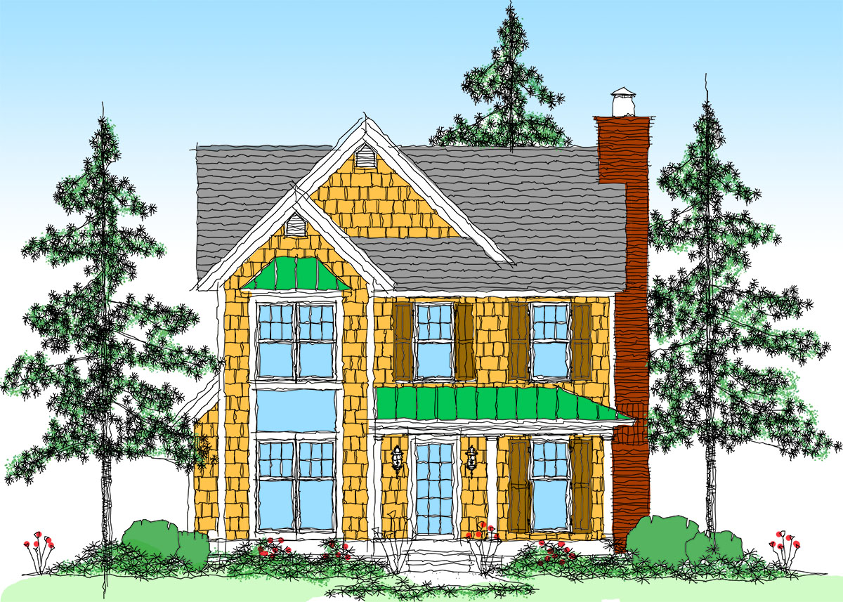 Country getaway in 3 versions 26678gg architectural for Architecturaldesigns com house plan 56364sm asp