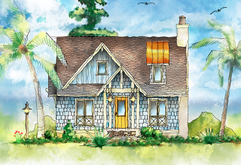 Shingle style itty bitty cottage 26683gg architectural for Shingle style cottage plans