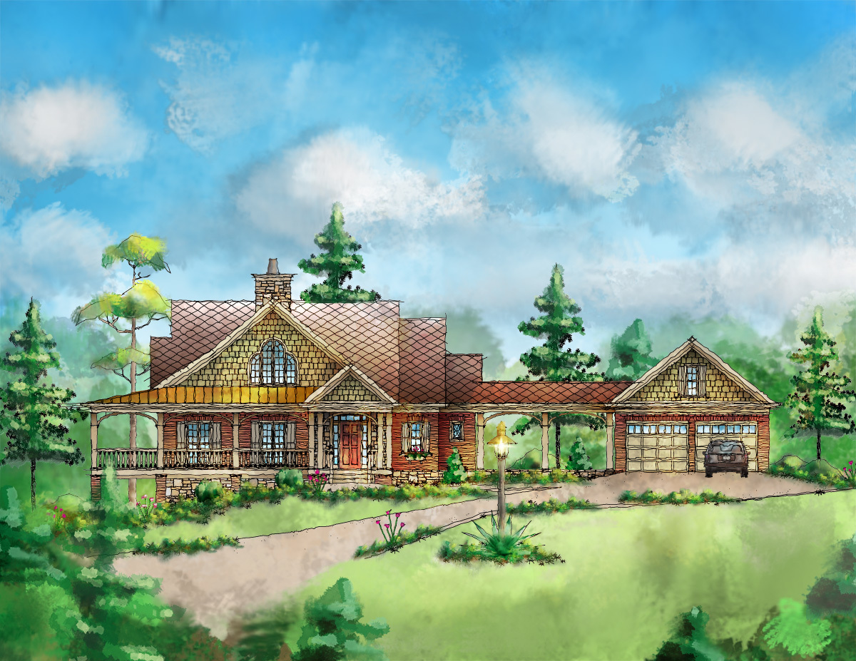 Handsome farmhouse home plan 26701gg architectural for Large farmhouse house plans