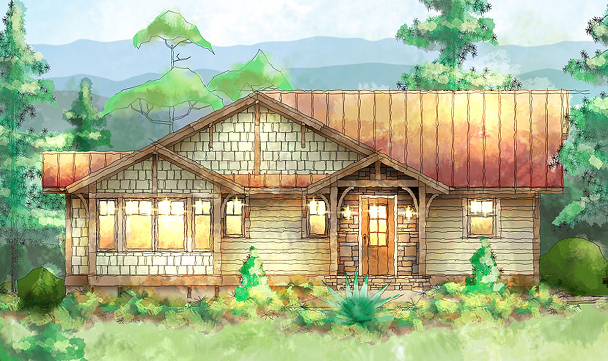 Carolina mountain cottage house plan 26704gg for Carolina cottage house plans