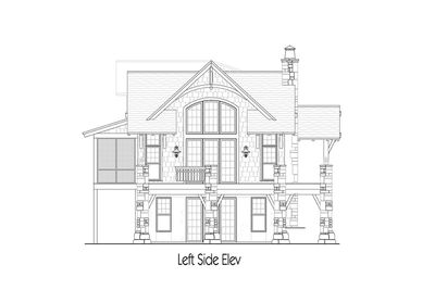 Craftsman Cottage With Rustic Detailing 26709GG Architectural