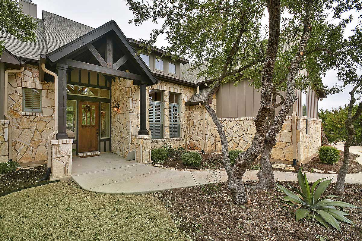 4 Bed Rugged Hill Country House Plan 28317HJ Architectural