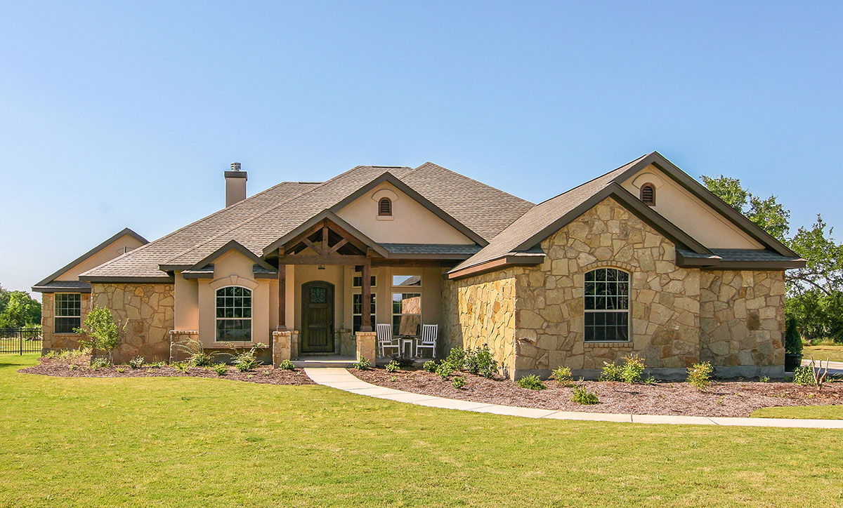 Custom hill country ranch house plan 28338hj for Custom ranch homes