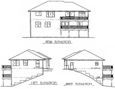 Contemporary House Plan For A Sloping Lot 2849j