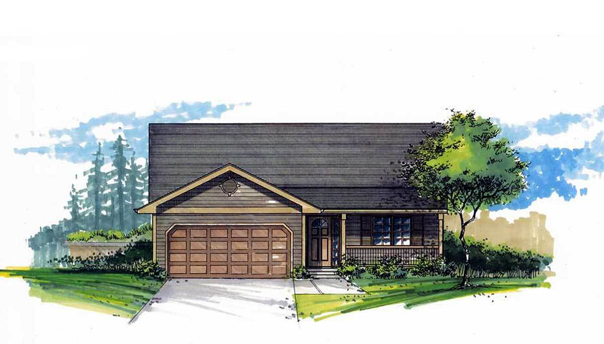 Economical ranch home plan 2885j architectural designs for Economical ranch house plans