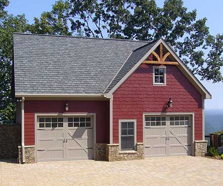 Garage apartment with fireplace 29820rl 2nd floor for Carriage home designs