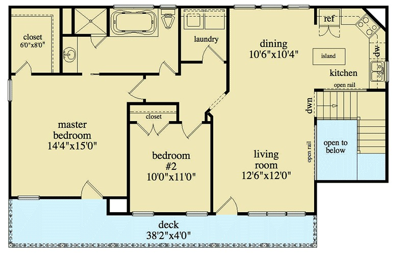 3 Bay Carriage House Plan 29850rl 2nd Floor Master
