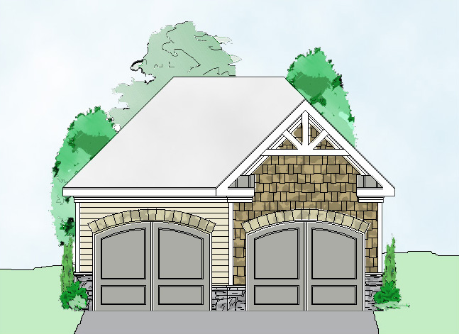 2 Bay Basic Garage Plan - 29851RL