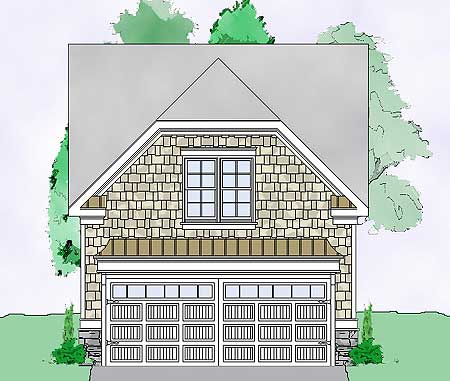 Detached guest house plan 29852rl 2nd floor master for Home plans with detached guest house