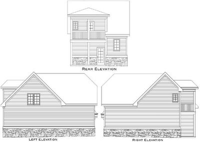 Detached guest house plan 29852rl architectural Home plans with detached guest house