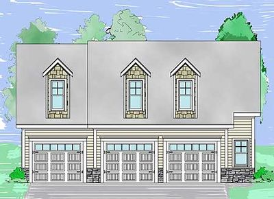 3 Bay Detached Garage and Apartment - 29853RL thumb - 02