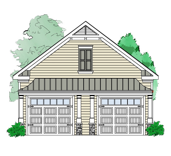 2 bay garage with storage in back 29854rl for 2 bay garage plans