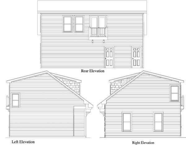 2 bay garage apartment plan 29856rl 2nd floor master for 3 bay garage apartment plans