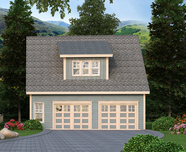 Detached garage plan with office 29867rl 2nd floor for 3 car detached garage cost