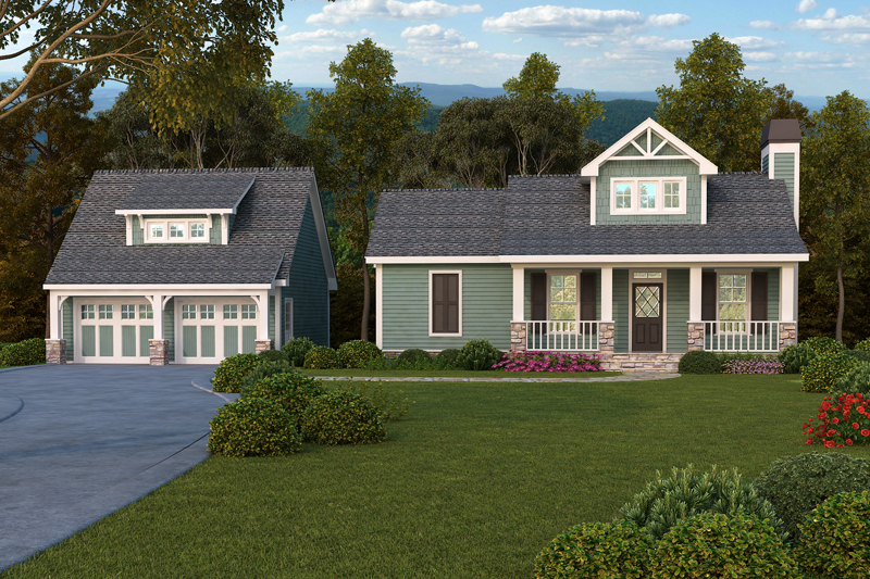 Warm and cozy weekender 29868rl 1st floor master suite for Detached garage plans with loft