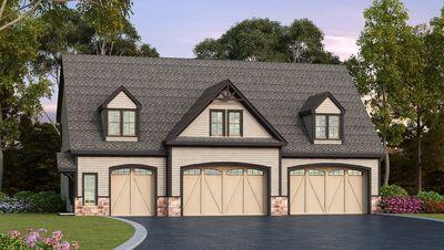 Residential 5 car garage plan 29870rl 2nd floor master for 3 bay garage plans
