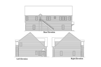 styles of homes residential 5 car garage plan 29870rl 2nd floor master 29870