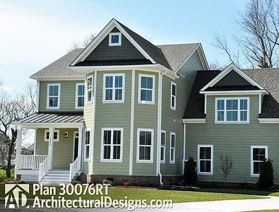 Exclusive bright 2 story storybook house plan 30076rt for Storybook home plans