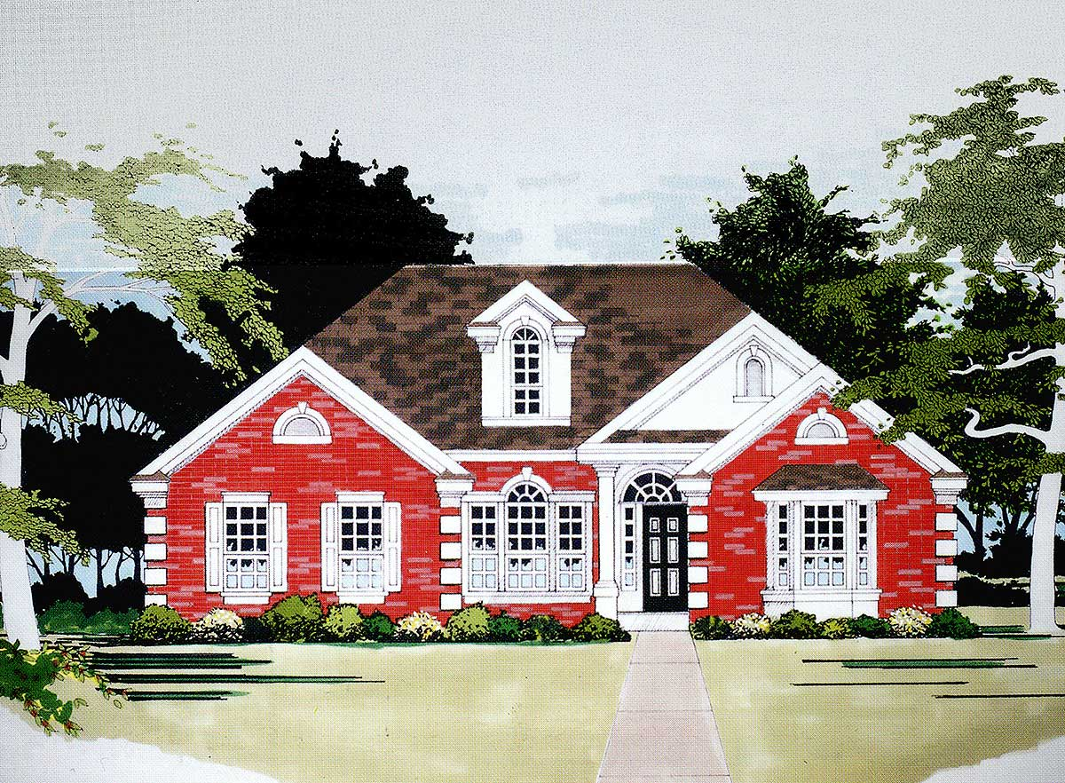 Double Master Bedroom House Plan - 3056D