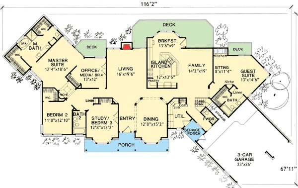 small house plans with mother in law suite mother-in-law suites